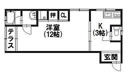 (有)富士マンション[205号室]の間取り