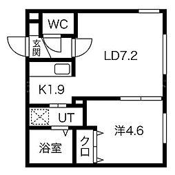Y's札幌(ワイズ)[2階]の間取り