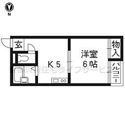 サンシャイン京都[104号室]の間取り