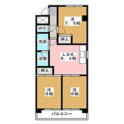 サンシャトー春日井[1階]の間取り