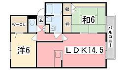 ロイヤルグレース花田[C101号室]の間取り