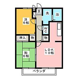 サンガーデン高蔵寺[2階]の間取り