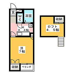 ベルヴュー高崎A[2階]の間取り