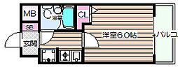 エスリード野田駅前[6階]の間取り