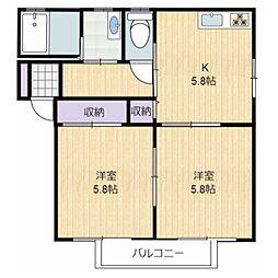 グランシャリオ2[2階]の間取り