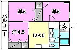 福泉ビル[405 号室号室]の間取り