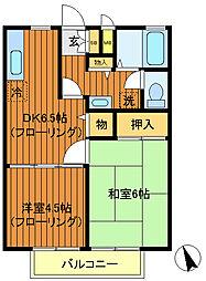東京都武蔵野市吉祥寺本町4丁目の賃貸アパートの間取り