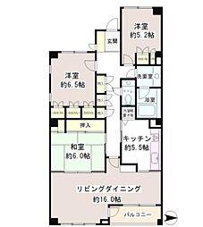 東京メトロ千代田線 代々木公園駅 徒歩8分の賃貸マンション 3階3LDKの間取り