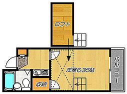 大阪府門真市岸和田2丁目の賃貸アパートの間取り