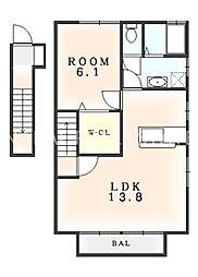 クロノスガーデン[2階]の間取り