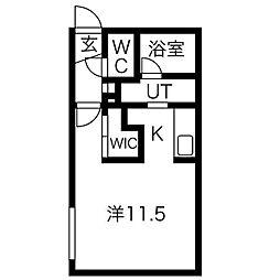 Reussir N6W11[2階]の間取り