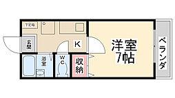 スカイハイツ前田[201号室]の間取り