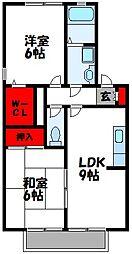 福岡県古賀市舞の里2丁目の賃貸アパートの間取り