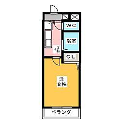 アイリス八事[4階]の間取り