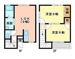 ソレイユ21B棟[2階]の間取り