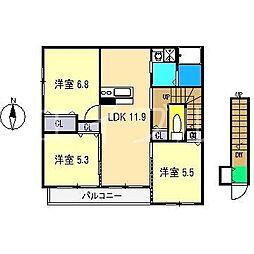 シャーメゾン・マグノリア[2階]の間取り