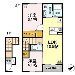 (仮称)D-room松江市古志原2丁目[2階]の間取り