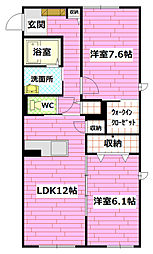 gardens Kawauchi[101号室]の間取り