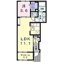 コロボックル藤阪[1階]の間取り