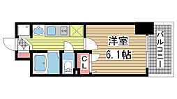 プレサンス神戸プレシャス[604号室]の間取り
