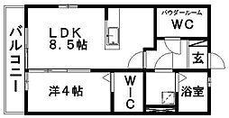 ドエル志都呂[A201号室]の間取り
