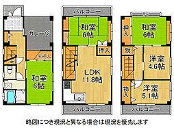 堺市東区菩提町2丁 中古一戸建て 5LDKの間取り