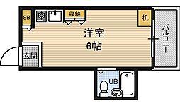 シャトー福島[3階]の間取り