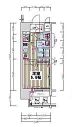 プレサンス京町堀ノース[7階]の間取り