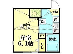 プロムナード鶴見[1階部分号室]の間取り