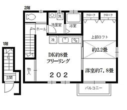 東京都練馬区下石神井5丁目の賃貸アパートの間取り