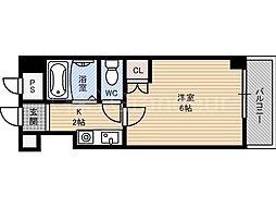 リバティ都島[3階]の間取り