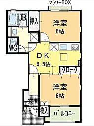 徳島県徳島市西新浜町1の賃貸アパートの間取り