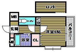COCOMO MORIMOTO[3階]の間取り