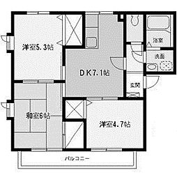 神奈川県相模原市南区西大沼1丁目の賃貸アパートの間取り
