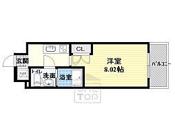 サムティ都島北通 6階1Kの間取り