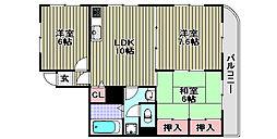 マンションナシマ[207号室]の間取り