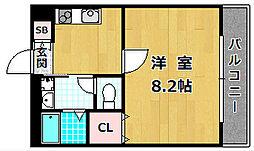 大阪府枚方市渚栄町の賃貸アパートの間取り