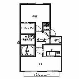 シャーメゾン川本[1階]の間取り