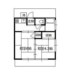 第一井上荘[1階]の間取り