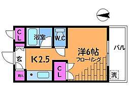 ロワール仙川[3階]の間取り