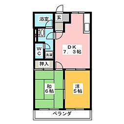 クリーンハイツ光[2階]の間取り