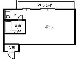 パレドゥブランシュ[3階]の間取り