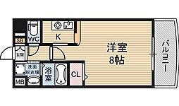 ノルデンハイム新大阪2[4階]の間取り