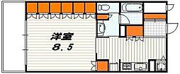 リーガル京都五条堀川[604号室]の間取り