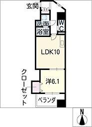 カスタリア志賀本通[8階]の間取り