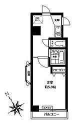 キャッスルマンション曳舟[706号室]の間取り