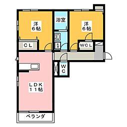 シャーメゾン柿田川[3階]の間取り