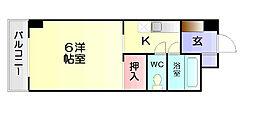 福岡県大野城市雑餉隈町1丁目の賃貸マンションの間取り