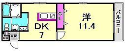 昭南館3[2階]の間取り