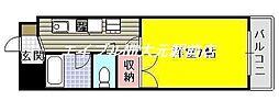 コスモクィーン矢坂I[3階]の間取り